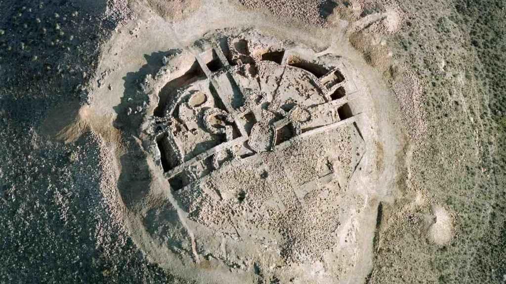 Vista aérea del Fortín I de Los Millares.