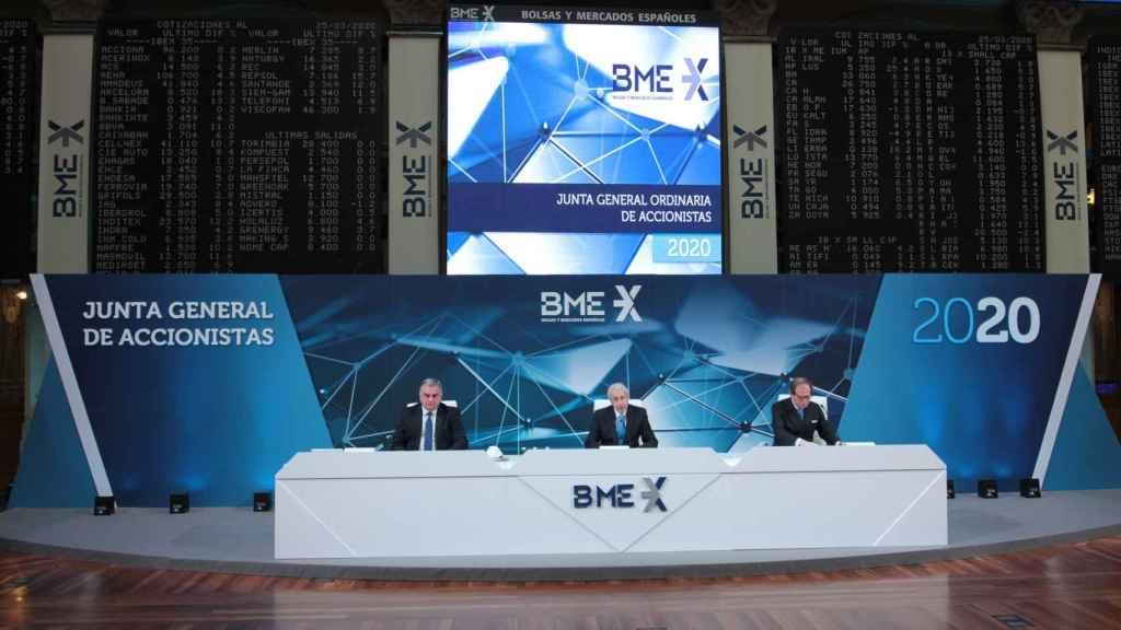 Presidencia de la junta general de accionistas de BME del año 2020.