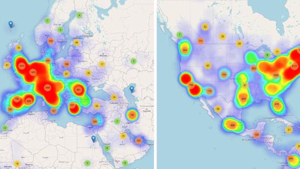 Mapa de calor de ataques relacionados con coronavirus en marzo y las dos primeras semanas de abril