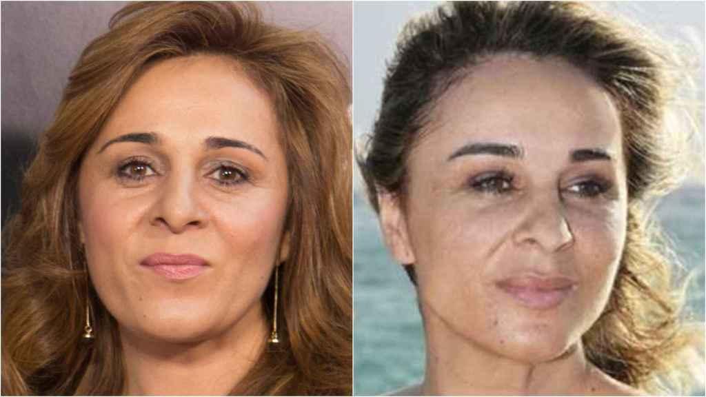 Ana María Aldón, antes y después de su cambio físico.