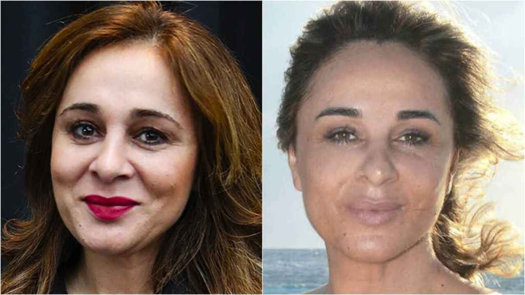 Ana María Aldón, antes y durante 'Supervivientes'.