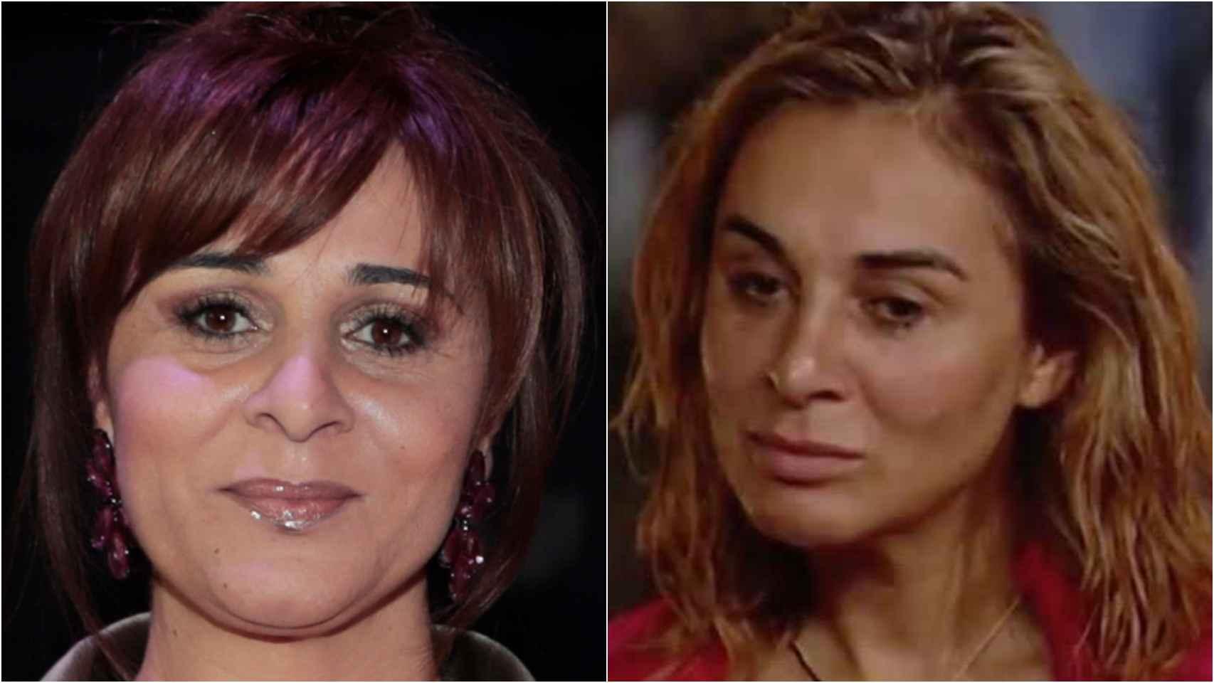 Ana María Aldón antes y después de su gran cambio.
