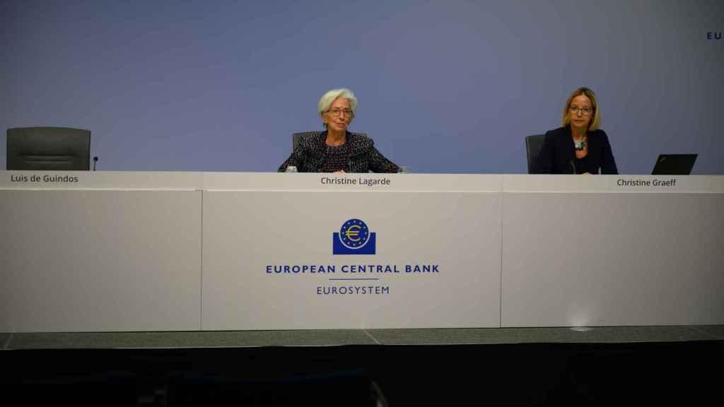 Luis de Guindos ha asistido por teléfono a la rueda de prensa del BCE de este jueves