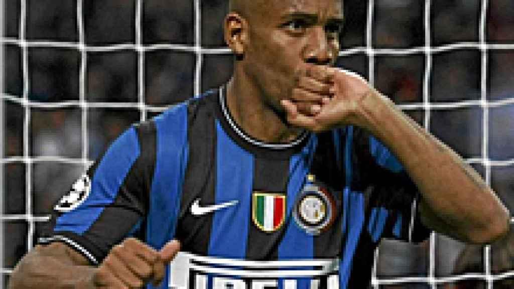 Maicon, en un partido del Inter de Milán