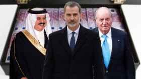 Felipe VI junto a su padre Juan Carlos I y el gestor del Emérito Arturo Fasana