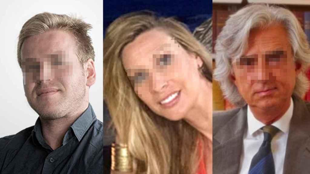Eric Casas, deHans Biomed Skymedic; Mayra Dagà, de FCS, y el abogado José María Lafuente.