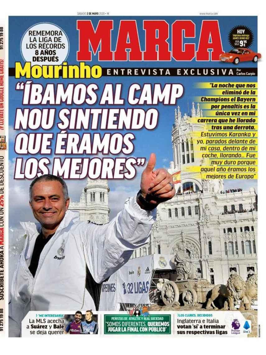 La portada del diario MARCA (02/05/2020)