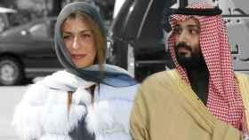 La princesa Basmah y Mohamed Bin Salman, en un montaje de Jaleos.