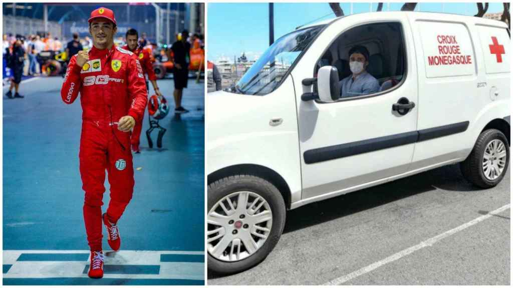 Leclerc colabora con la Cruz Roja de Mónaco para luchar contra el coronavirus