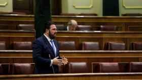 Jon Iñarritu, diputado de Bildu, durante la sesión de control al Gobierno del miércoles en el Congreso.