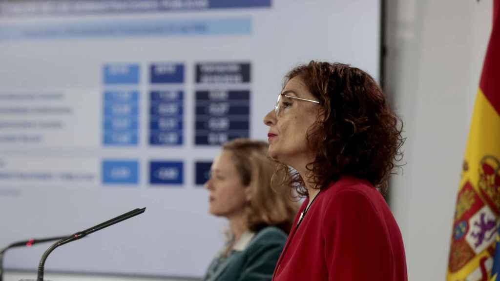 Nadia Calviño y María Jesús Montero.