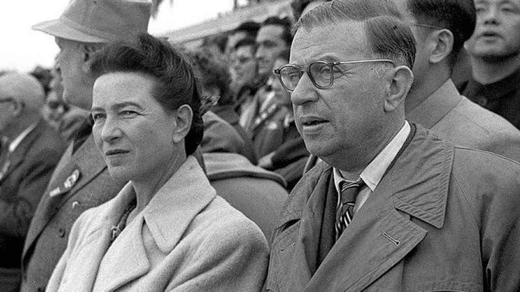 Simone de Beauvoir y Sartre.