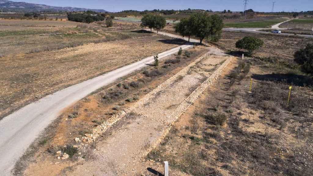 Un tramo de la Vía Augusta a su paso por la provincia de Castellón.