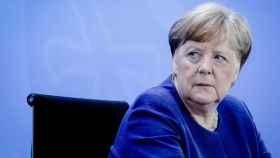 Angela Merkel durante una rueda de prensa.