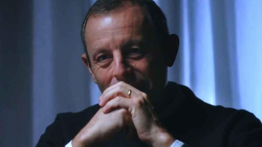 Sandro Rosell, durante el programa de 'Lo de Évole'