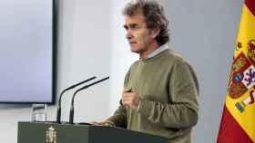 Fernando Simón, durante la rueda de prensa de este domingo.