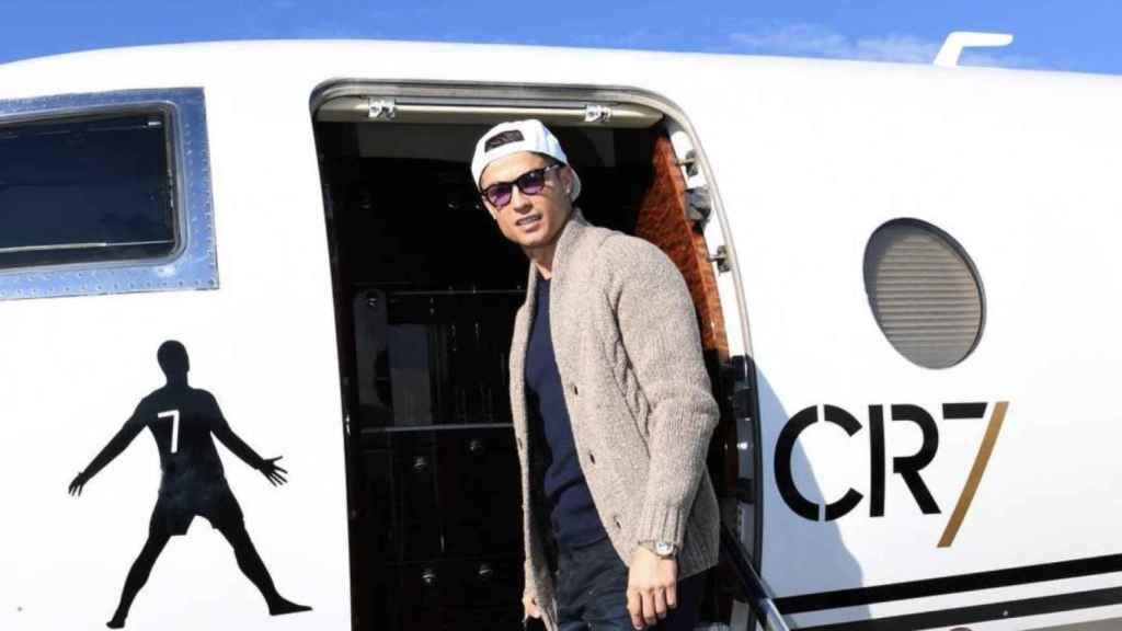 Cristiano Ronaldo y su avión privado