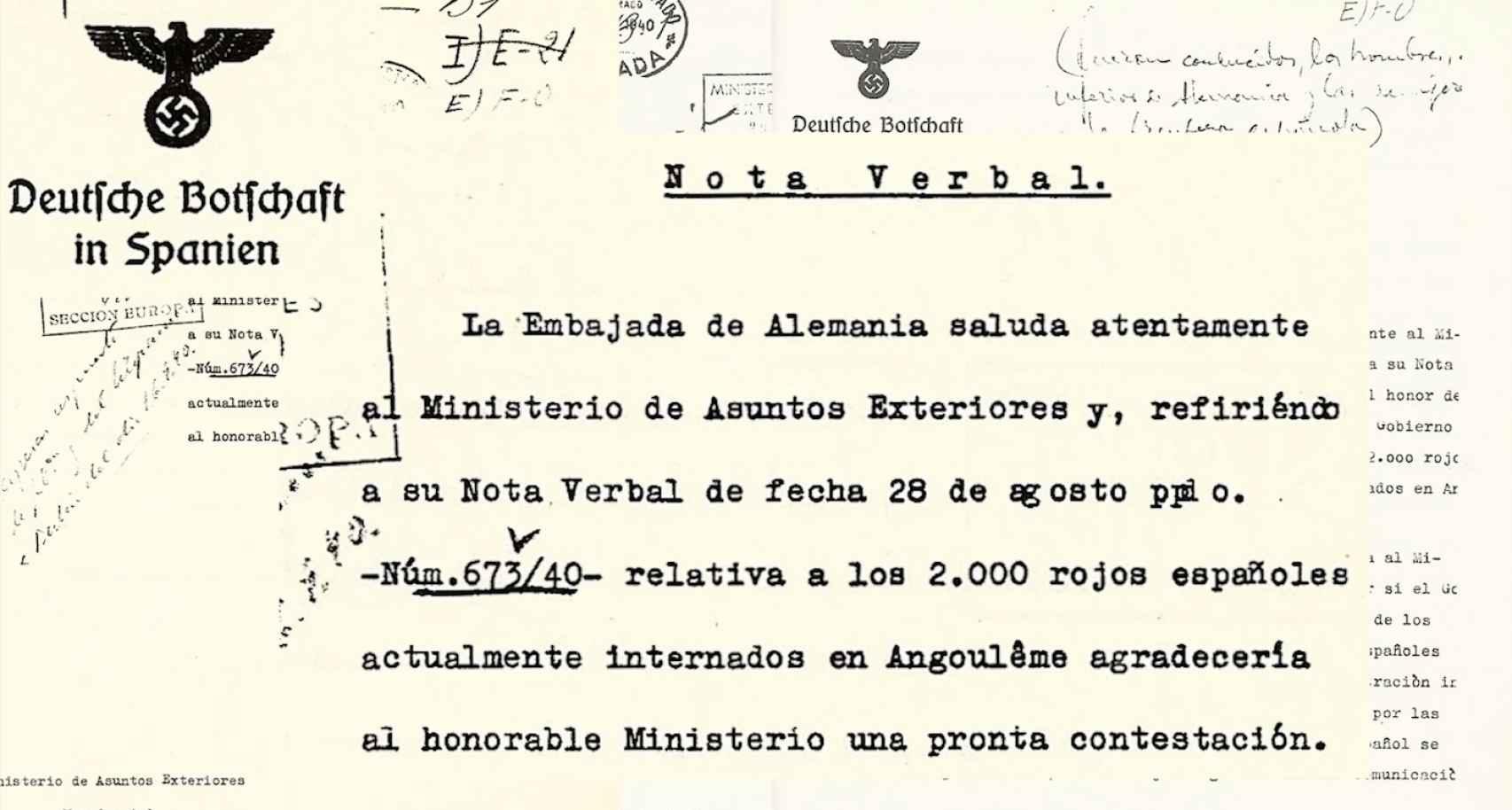 Fotograma de 'Los últimos españoles de Mauthausen', donde se refleja la incertidumbre a la que sumió Franco a los españoles prisioneros tras la carta enviada desde la embajada alemana en España.