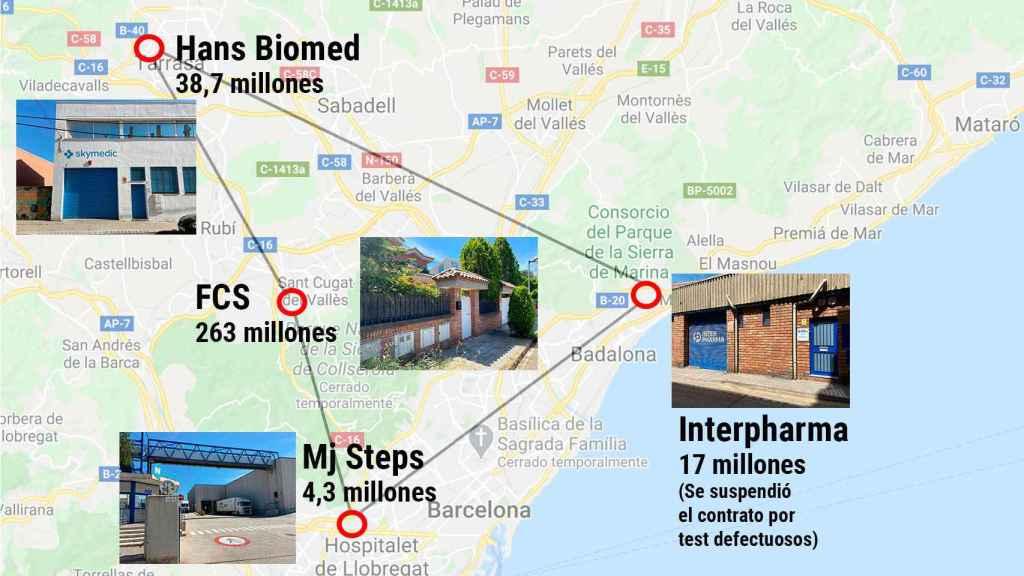 Situación de las empresas adjudicatarias catalanas