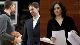 Marc y Pau Gasol e Isabel Díaz Ayuso