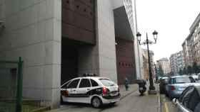 La entrada de los Juzgados de Oviedo