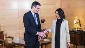 Sánchez y Arrimadas, durante su última reunión presencial.