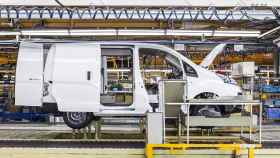 Producción de la e-NV200 en la planta de Nissan en Barcelona.