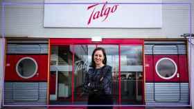 Elena Moral, en las instalaciones de Talgo.