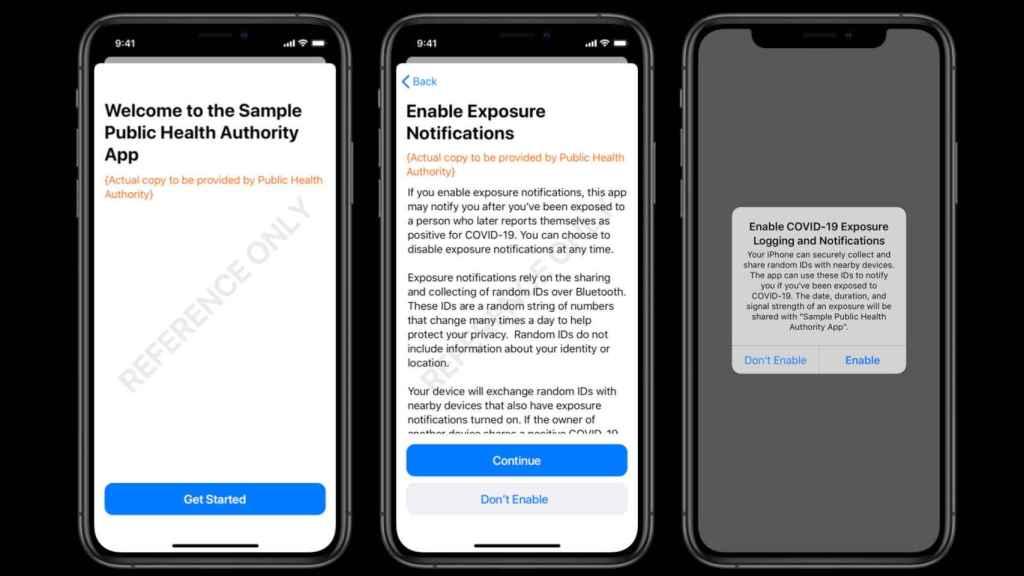 Ejemplo de una app para iOS capaz de avisarnos de posible exposición al coronavirus