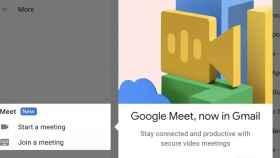 Integración de Meet con Gmail.