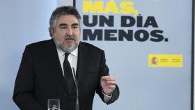 Manuel Rodríguez Uribes, ministro de Cultura, en rueda de prensa