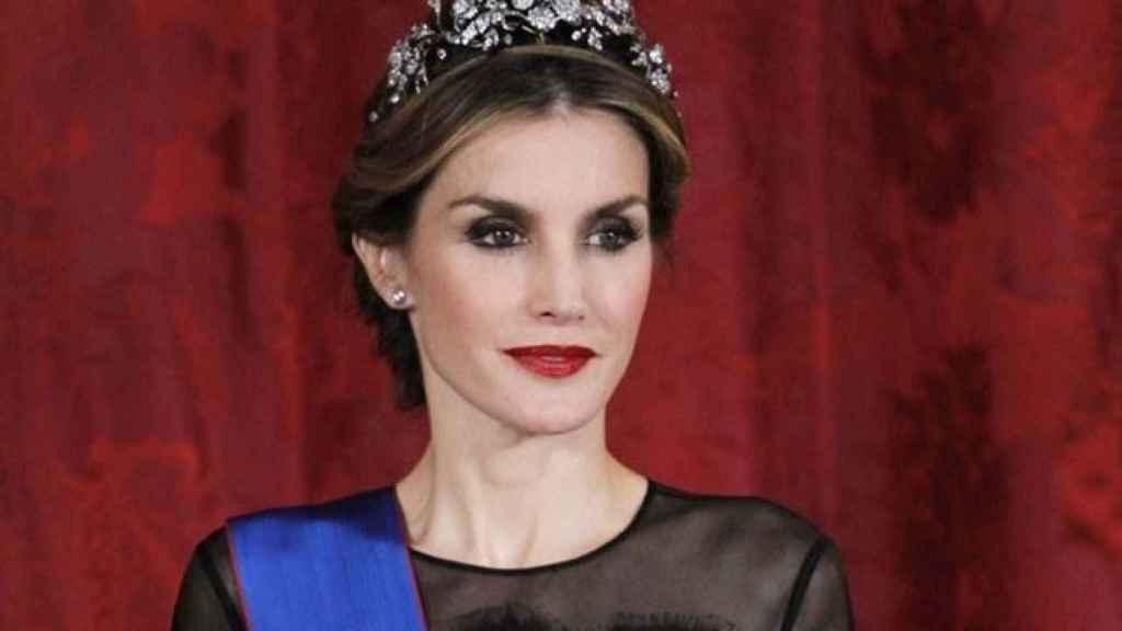 La reina Letizia con la tiara Floral.