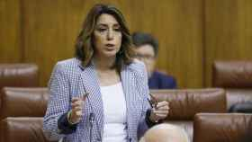 La secretaria general del PSOE-A, Susana Díaz, en el Parlamento andaluz.