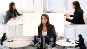 La reina Letizia en su despacho.