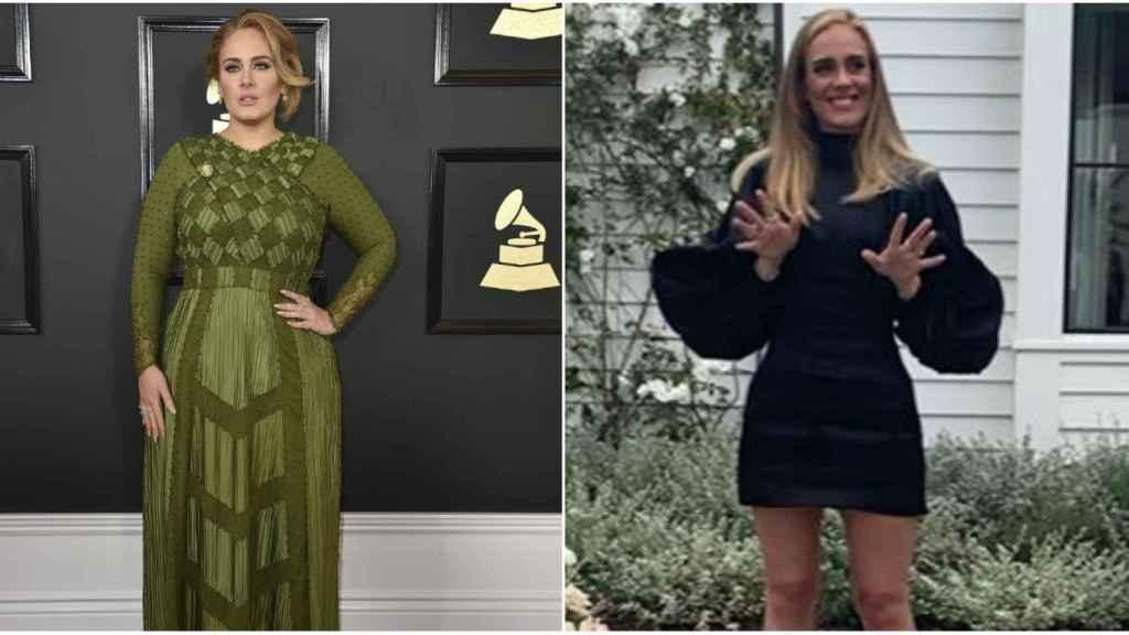 El antes y el después de Adele en montaje de JALEOS.