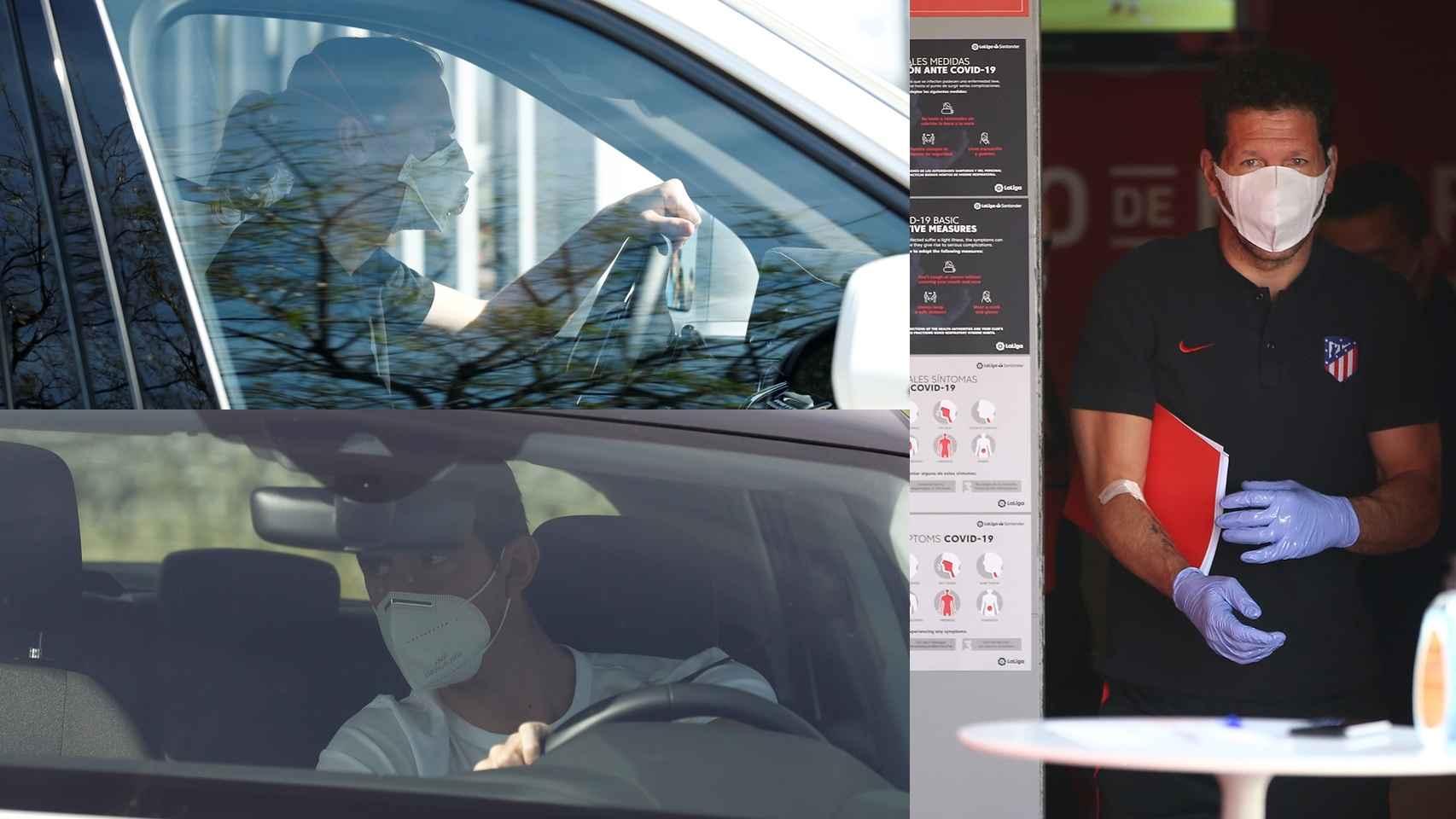 Antoine Griezmann, Thibaut Courtois y Diego Pablo Simeone pasan los test de Covid-19