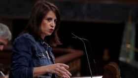 Adriana Lastra, portavoz del PSOE en el Congreso, en el pleno.