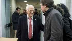 El Padre Ángel y Pablo Iglesias en uno de sus encuentros