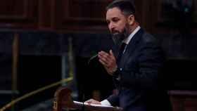 Santiago Abascal, durante su intervención en el Congreso.
