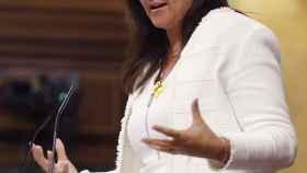 Laura Borràs, este miércoles en el debate sobre la prórroga del estado de alarma./