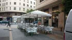 Una terraza de un bar de Valencia.