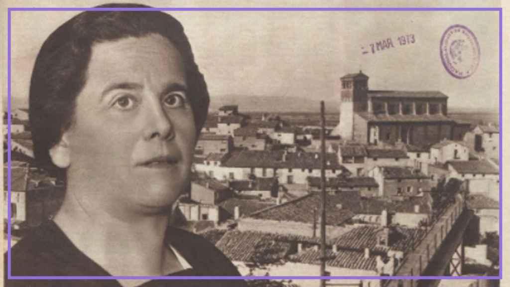 La escritora e intelectual María Domínguez, en una portada del diario 'Crónica'.