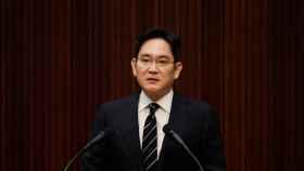Jay Y. Lee, durante la rueda de prensa en la que anunció que la sucesión no quedaría en manos de su familia.
