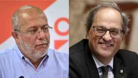 Francisco Igea, vicepresidente de Castilla y León, y Quim Torra, president de la Generalitat, en un montaje.