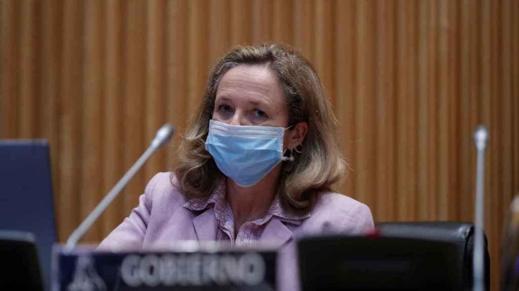 La vicepresidenta de Asuntos Económicos del Gobierno de España, Nadia Calviño.