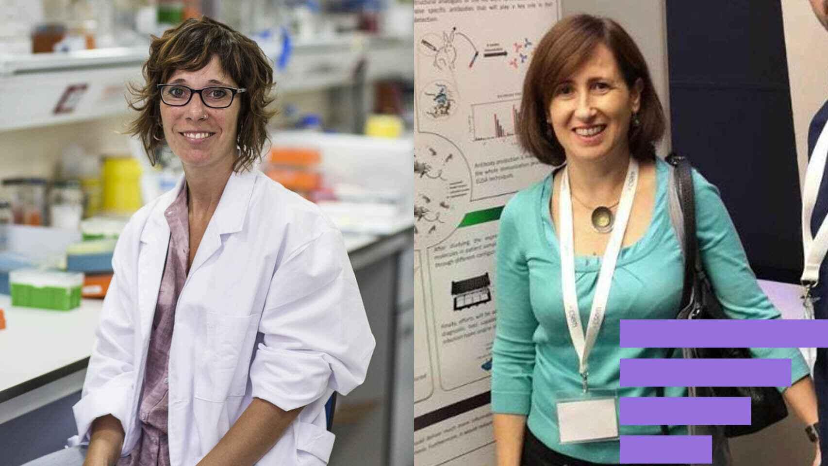 Elena Gómez-Díaz y Pilar Marco, dos científicas del CSIC.