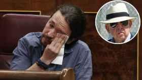 El vicepresidente segundo del Gobierno, Pablo Iglesias, cuando lloró en el Congreso, en mayo de 2018, tras leer los testimonios de víctimas del torturador fallecido.