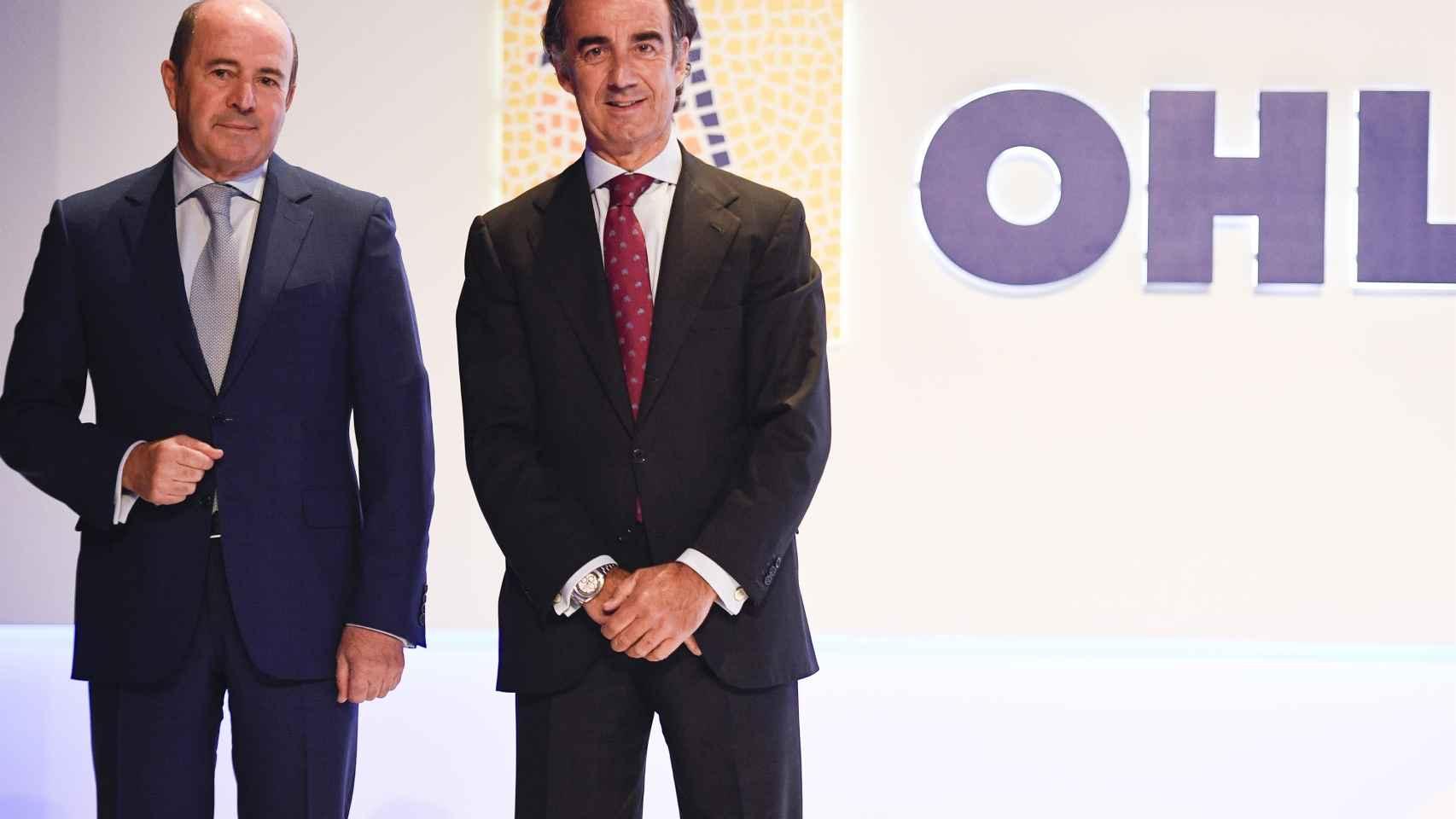 El presidente de OHL, Juan Villar-Mir, y el consejero delegado, Juan Antonio Fernández Gallar.