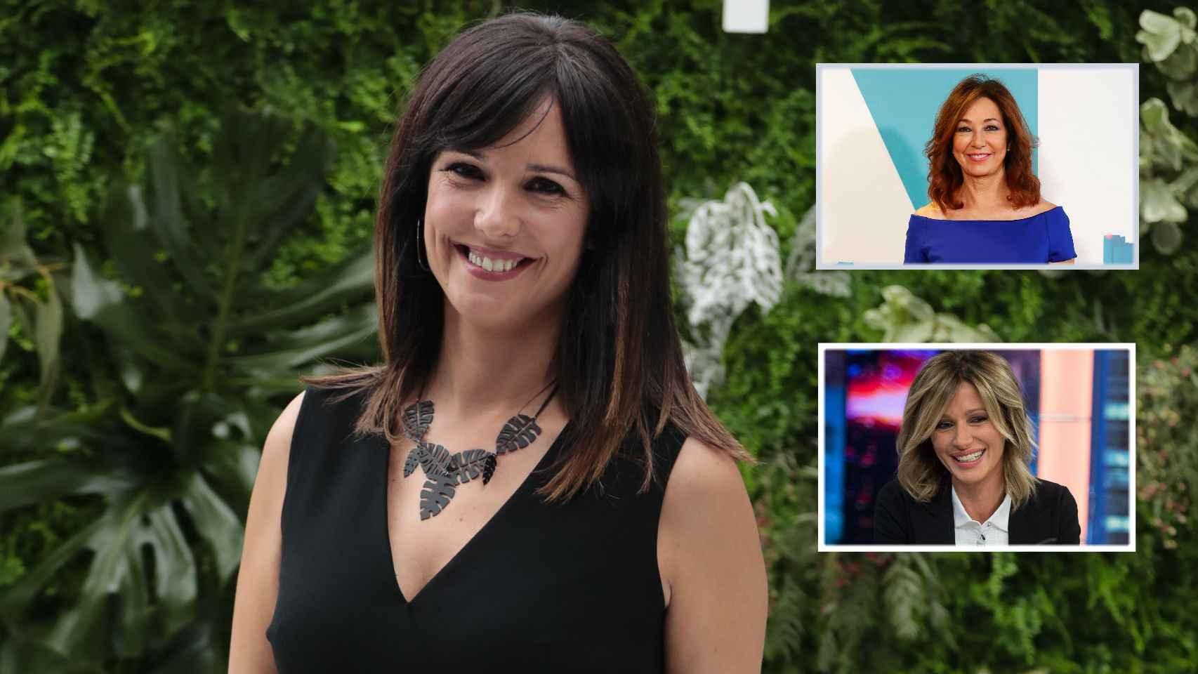 Mónica López junto a Ana Rosa y Susanna Griso en montaje de JALEOS.