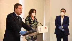 El presidente de Castilla-La Mancha, Emiliano García-Page, este viernes durante una visita oficial en Talavera